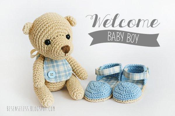 Amigurumi Baby Bear : Regalo per un nuovo nato. Benvenuto Lorenzo! Airali