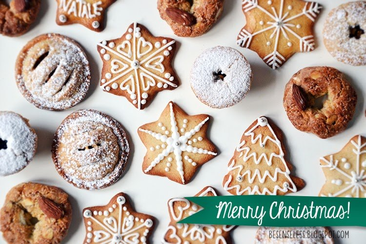 Merry Christmas with cookies - Buon natale con biscotti decorati - besenseless.blogspot.com