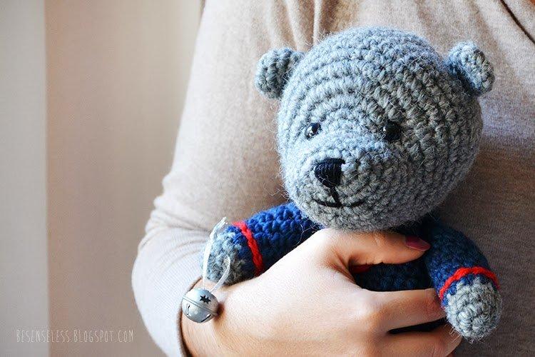Amigurumi Teddy Bear for Christmas - besenseless.blogspot.com