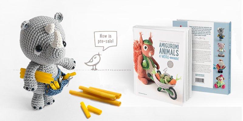 New amigurumi book: Amigurumi animals at work. Now in presale!
