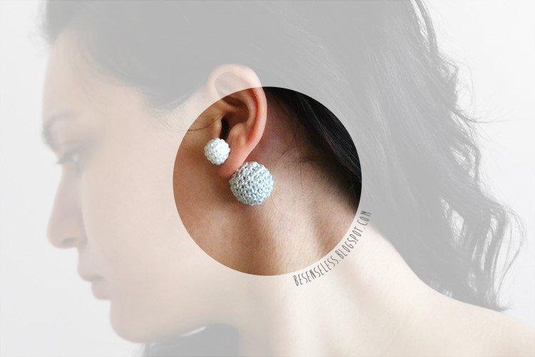 Crochet earrings - orecchini uncinetto - besenseless.blogspot.com