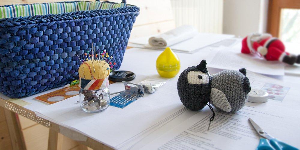 Design amigurumi patterns - my temporary desk - besenseless.blogspot.com