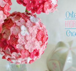 Ortensia hydrangea crochet uncinetto