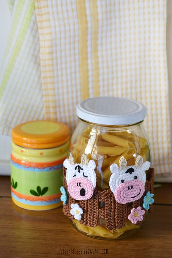 Cow - crochet kitchen accessories and decorations