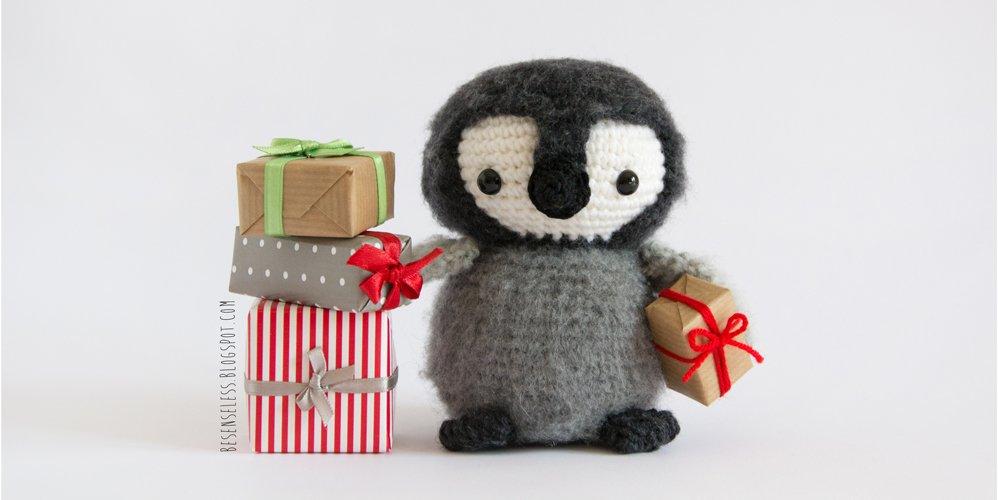 Amigurumi Baby emperor penguin - pattern in Amigurumi Winter Wonderland design by Ilaria Caliri