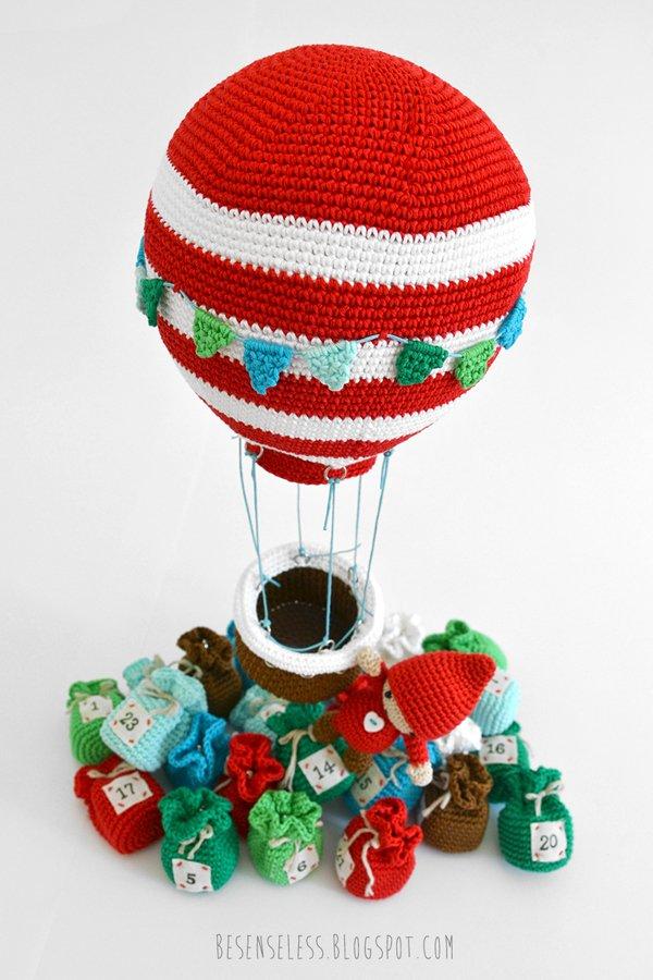 Amigurumi hot air balloon - Amigurumi winter wonderland - besenseless.blogspot.com