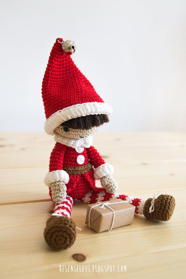 Little Christmas elf | Free amigurumi pattern | lilleliis | 900x600