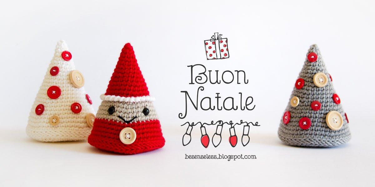 albero e folletto natalizio a forma di cono schema uncinetto gratuito