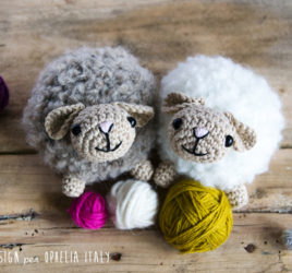 amigurumi sheep with bouclè yarn