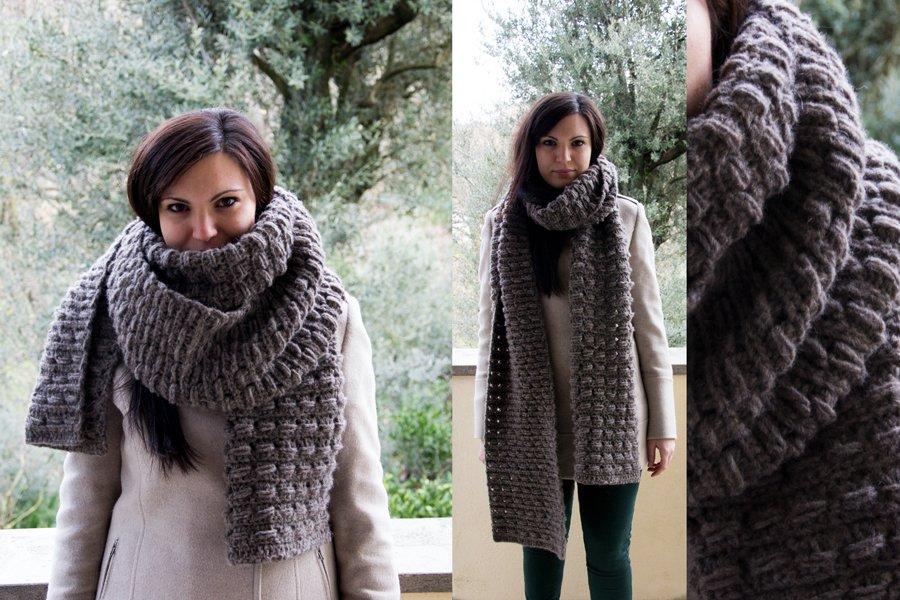 Marmotta. Sciarpa a uncinetto. Crochet scarf. Free pattern!