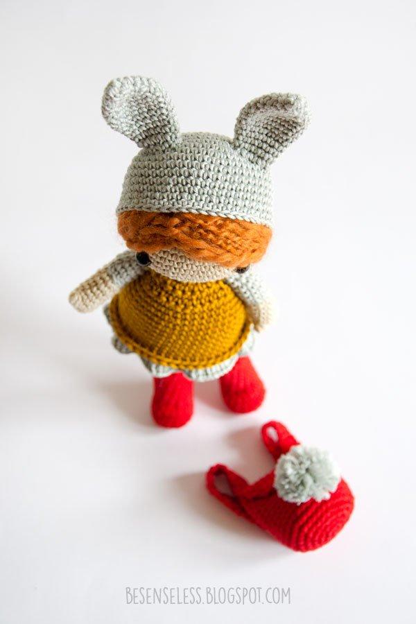 Pretty In Pink Bunny Dress - CrochetObjet | 900x600