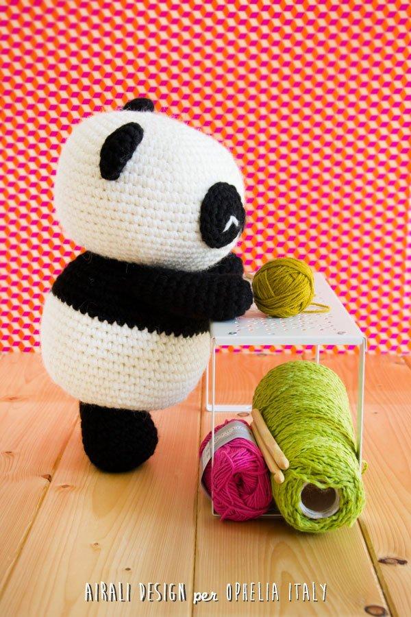 Panda Gigante Amigurumi. Schema uncinetto / pattern gratuito! In collaborazione con Ophelia Italy