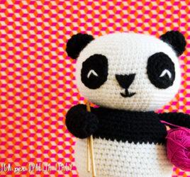 Panda gigante all'uncinetto - schema gratuito amigurumi