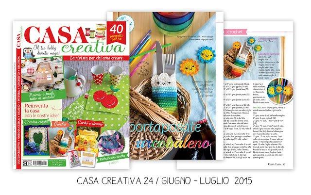 Sacchetto arcobaleno uncinetto - crochet rainbow bag - Casa Creativa