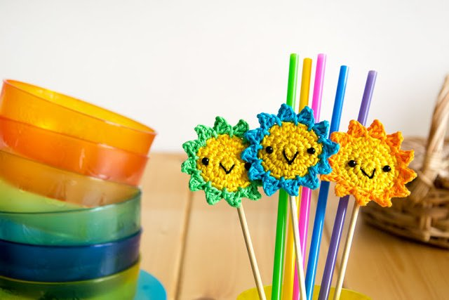 Sacchetto arcobaleno uncinetto - crochet rainbow bag