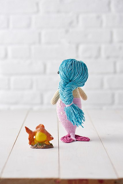 Mermaid amigurumi doll - Airali design - Sirena a uncinetto