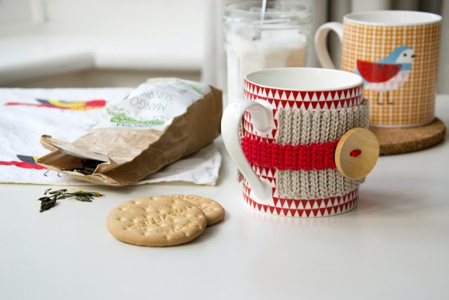 copritazza uncinetto - tea cup mug cozy crochet - airali design