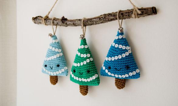 alberelli amigurumi da apppendere - christmas decoration