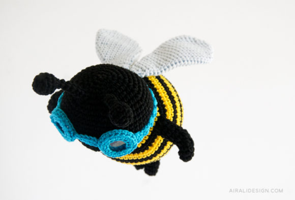Crochet amigurumi pattern bee bumblebee - Ape bombo a uncinetto