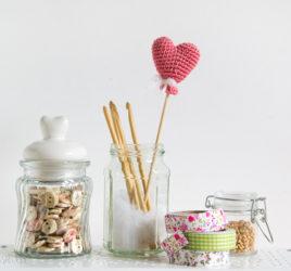 crochet heart balloon - cuore palloncino a uncinetto
