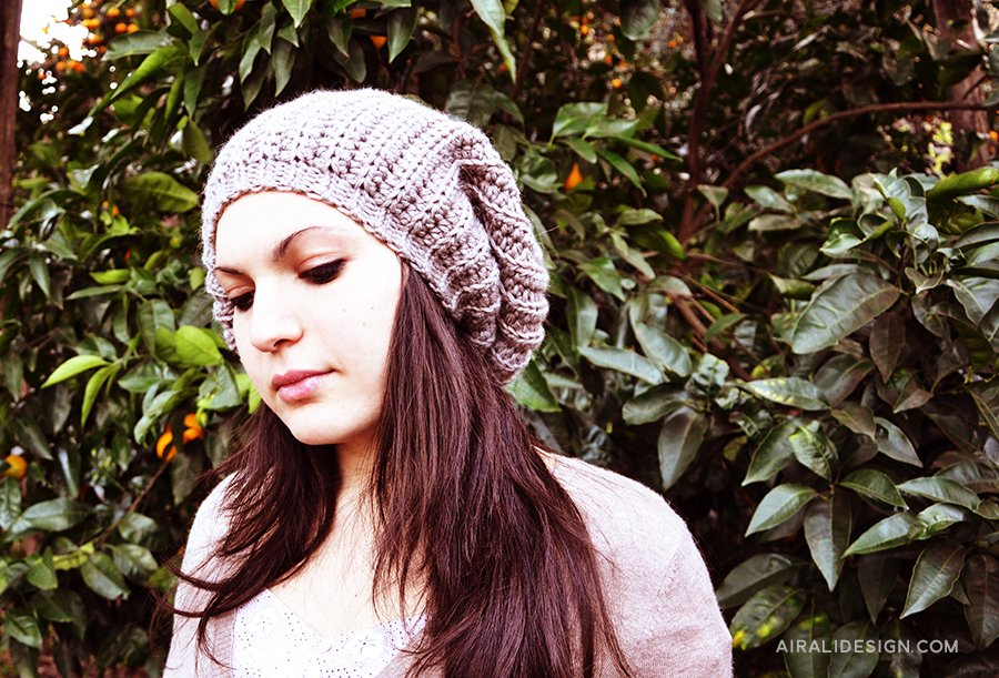 Flou schema gratuito cappello a uncinetto
