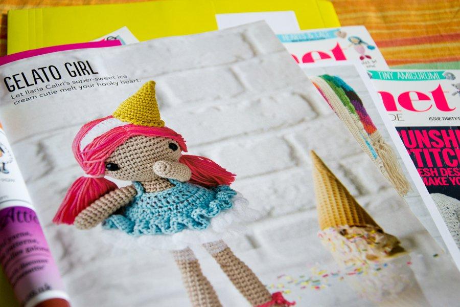 bambola uncinetto vestita da gelato - schema amigurumi in simply crochet