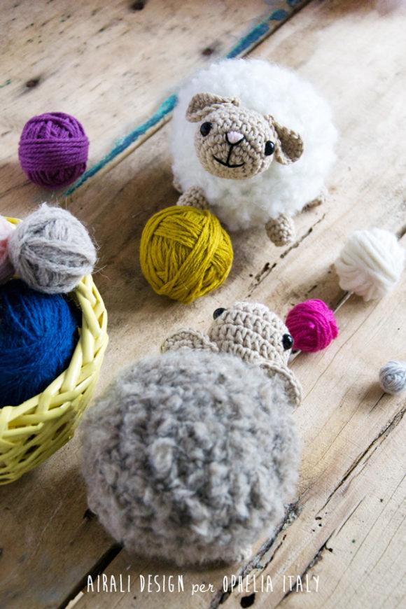 Bouclè sheeps