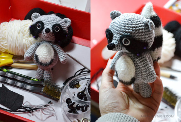Amigurumi raccoon - procione all'uncinetto
