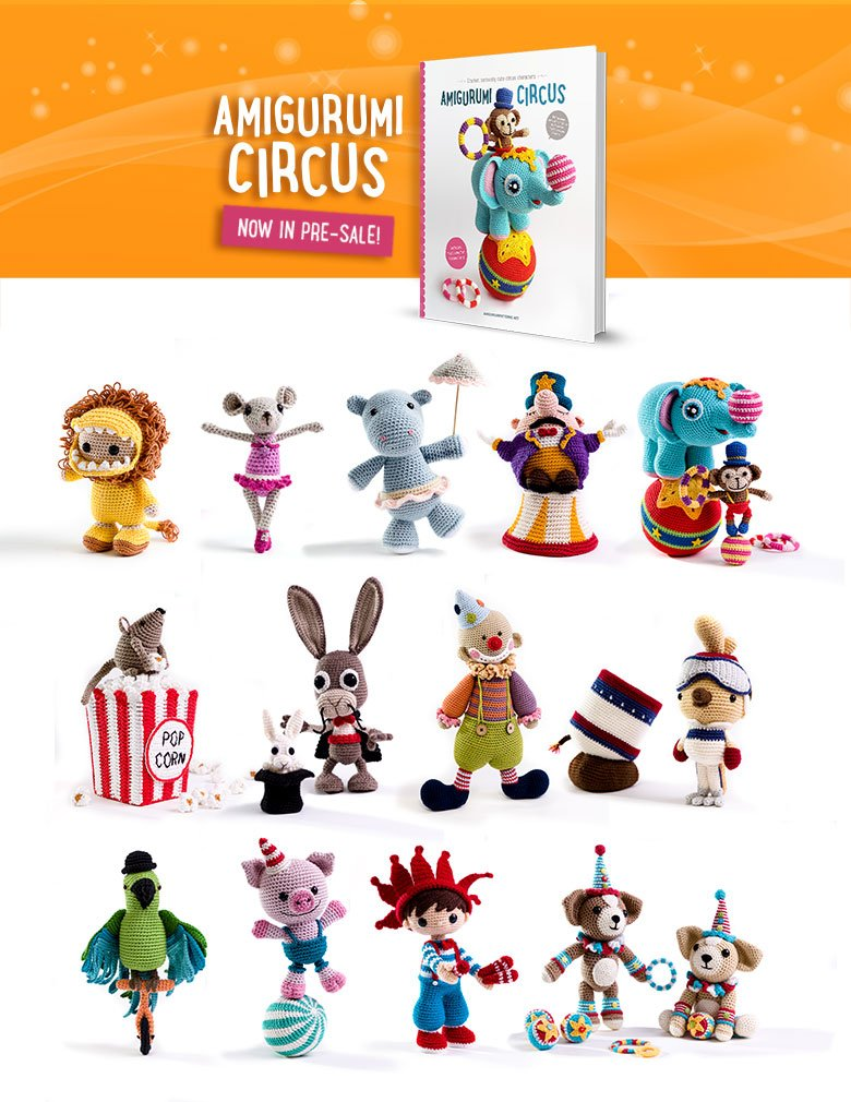 Amigurumi Circus book with crochet pattern to make amigurumi toys