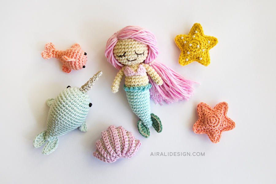 Baby Knitting Patterns Amigurumi Crochet Sea Creature Animal Toy ... | 600x900