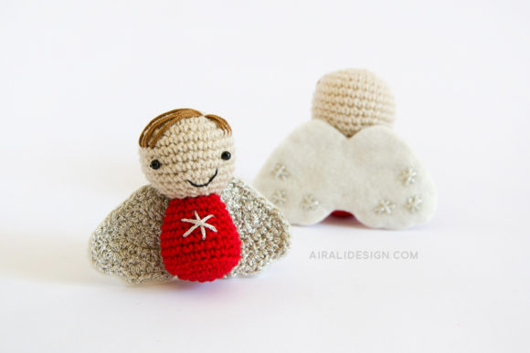 amigurumi angel christmas decoration crochet pattern