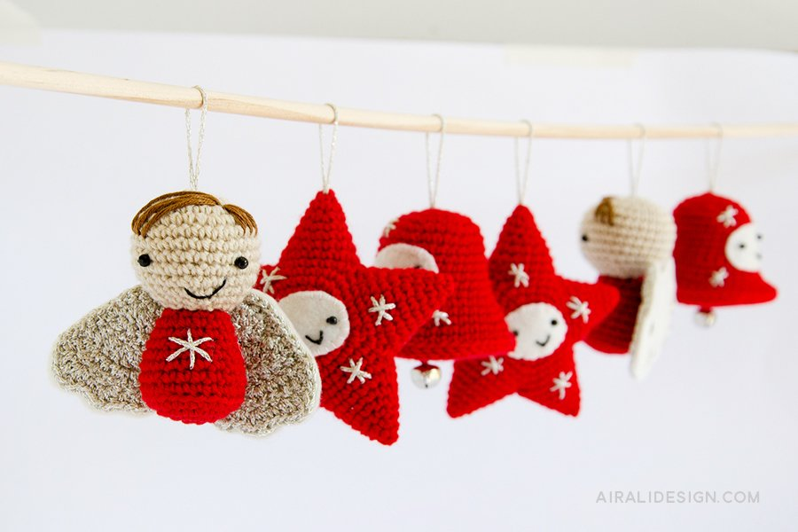 Amigurumi Christmas Decorations Crochet Pattern Airali