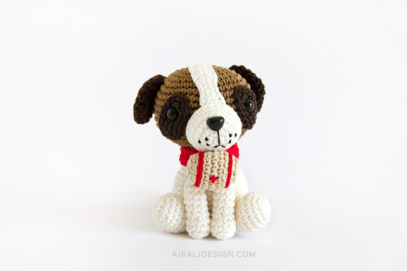 amigurumi saint bernard dog crochet pattern