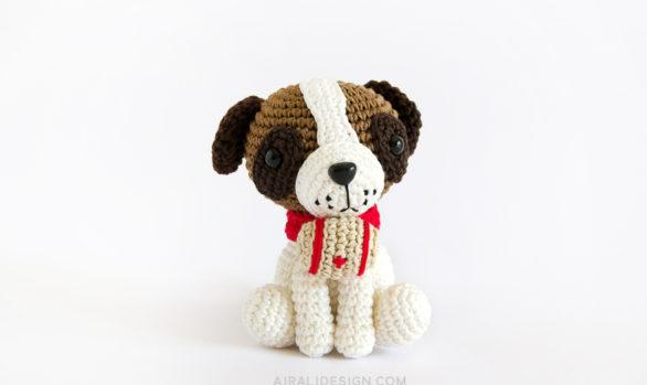cane san bernardo amigurumi con barilotto schema uncinetto