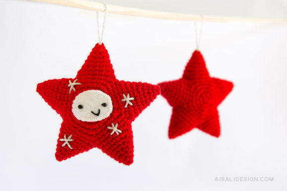amigurumi star christmas decoration crochet pattern