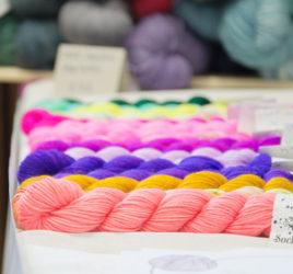 hedge hog yarns at a yarn story_ at yarnporium 2016 yarn, knitting and crochet fair in london