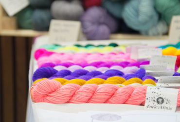 hedge hog yarns at a yarn story_ at yarnporium 2016 yarn, knitting and crochet fair in london