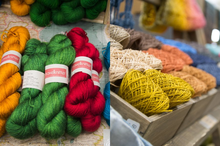 travel knitter and namolio_ at yarnporium 2016 yarn, knitting and crochet fair in london