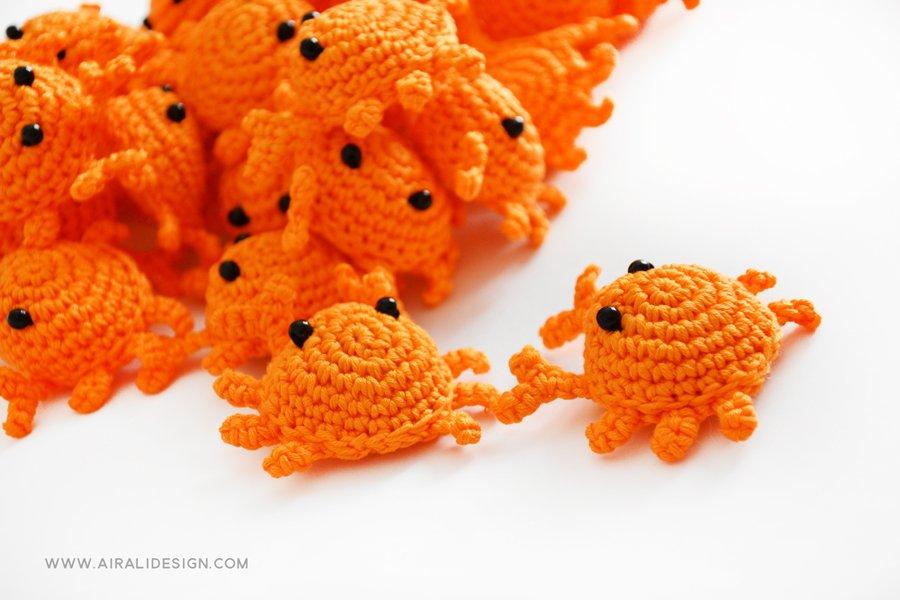 Amigurumi Crab : Mini granchio Schema uncinetto amigurumi Airali design