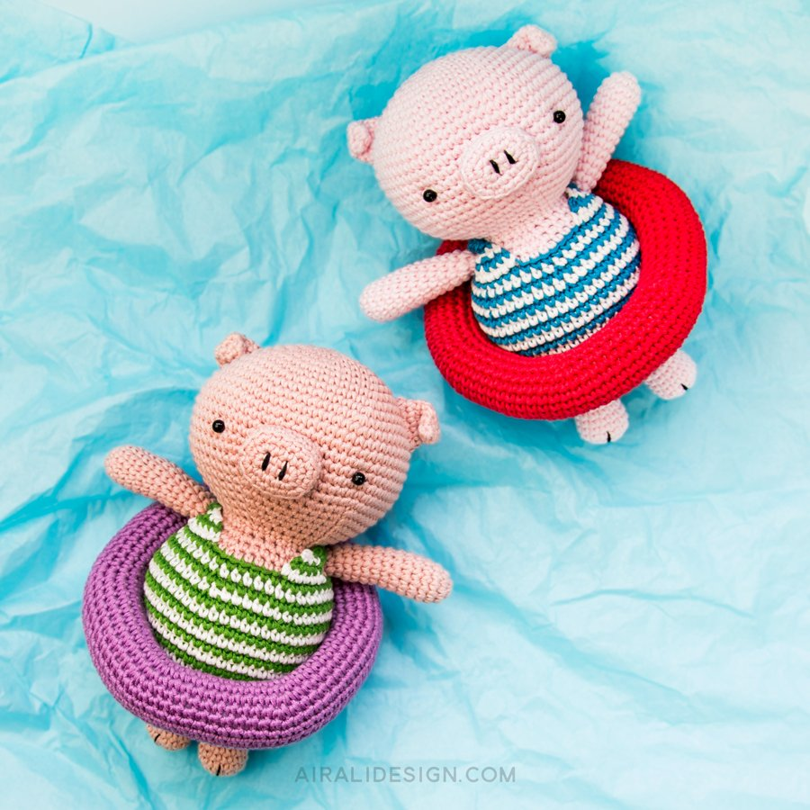 Amigurumi Piglet Patterns : Piglet on holiday Airali