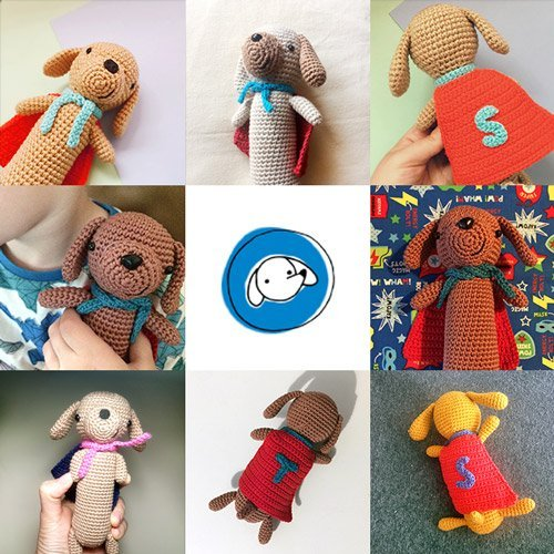 Made by you: Super Sausage amigurumi dachshund - crochet pattern