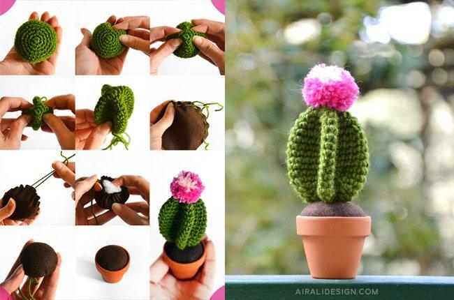 Star amigurumi cactus, free crochet pattern by Airali design