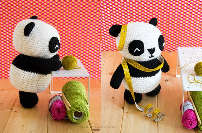 Panda gigante amigurumi - schema gratuito uncinetto