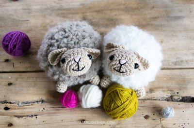 Bouclè, amigurumi sheep, free crochet pattern by Airali design