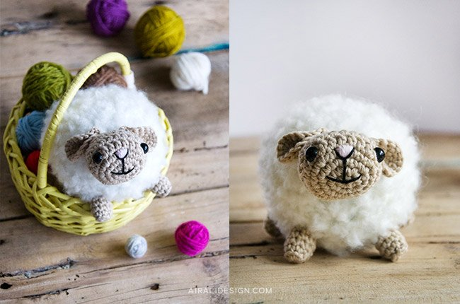 Bouclè, amigurumi sheep, free crochet pattern by Airali design