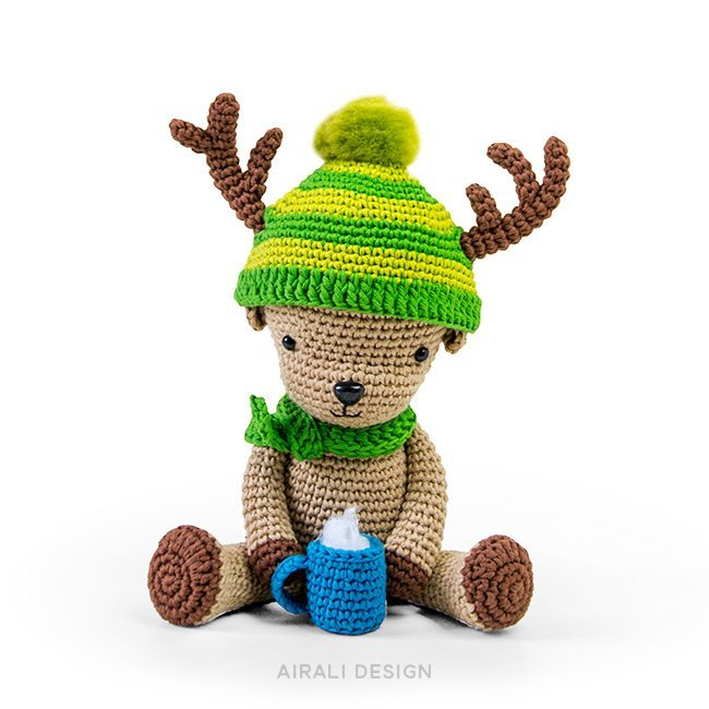 Dasher renna amigurumi schema uncinetto in pdf