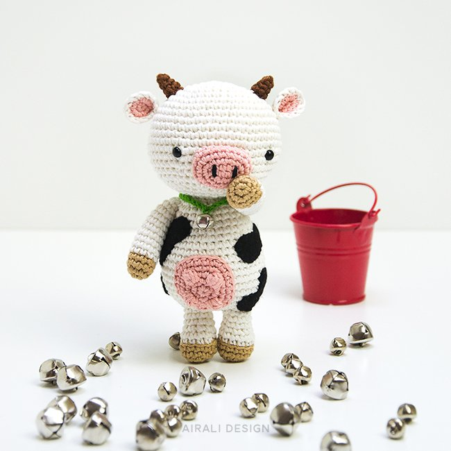 Mariella la mucca amigurumi, schema uncinetto