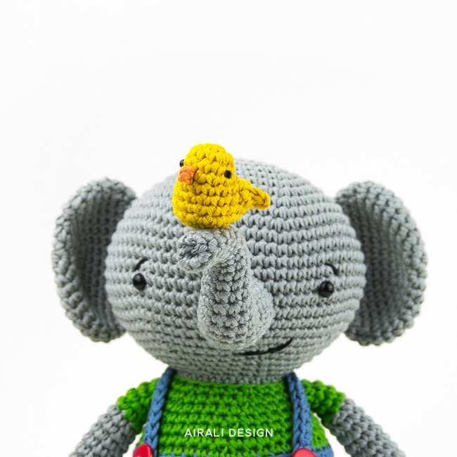 Martin the Amigurumi Elephant - crochet pattern in PDF | Airali