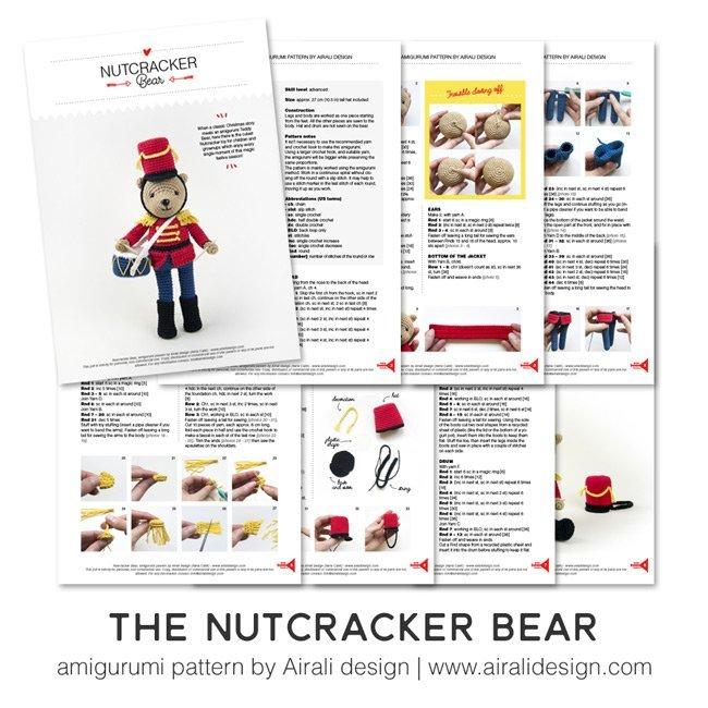 Nutcracker Orso Schiaccianoci amigurumi - schema uncinetto