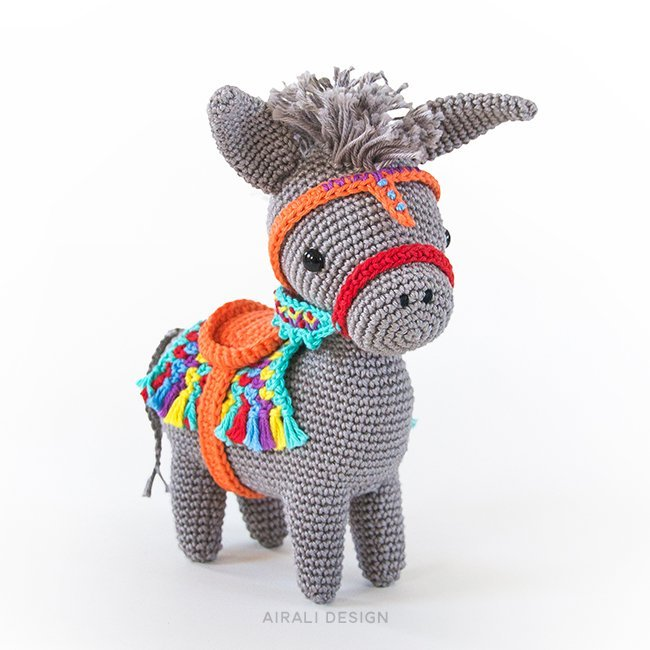 Pedro the Amigurumi Donkey - Crochet Pattern by Airali design